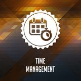 Time Management. Retro label design. Royalty Free Stock Images