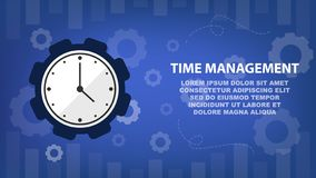 Time management and schedule for business concept vector illustration