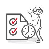 Time Management and schedule Vector Illustration stock photos