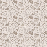 Time management seamless pattern. Stock Photography