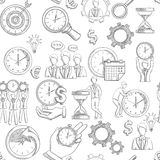 Time Management Seamless Royalty Free Stock Photos