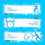 Time management set banners sketch Stock Photos