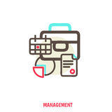 Time management, statistics illustration Royalty Free Stock Image