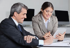 Time management with tablet pc Royalty Free Stock Image