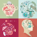 Time management, time is money, working time. Time for new ideas. Flat vector illustration Stock Image