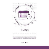 Time Management Timing Events Web Banner With Copy Space. Vector Illustration Stock Photos