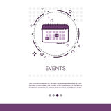 Time Management Timing Events Web Banner With Copy Space. Vector Illustration Royalty Free Stock Image