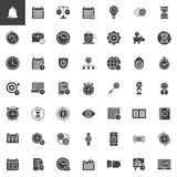Time management vector icons set Stock Image