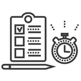 Time management vector line icon, sign, illustration on background, editable strokes. Time management vector line icon, sign, illustration on white background vector illustration