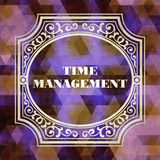 Time Management. Vintage Background. Royalty Free Stock Photos