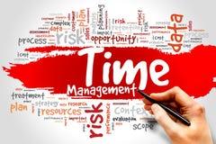 Time Management. Word cloud, business concept Stock Photos