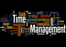 Time Management, word cloud concept 2 Royalty Free Stock Photo