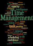 Time Management, word cloud concept 9 Stock Photography
