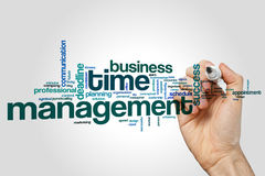 Time management word cloud Stock Photo