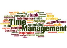 Time Management, word cloud concept 8 Royalty Free Stock Photography