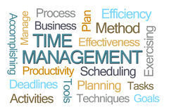 Time Management Word Cloud Royalty Free Stock Photo
