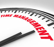 Time Management Words Clock Timer Managing Hours Royalty Free Stock Photography