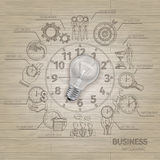 Time Managements Sketch Royalty Free Stock Photography