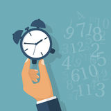 Time manager, control. royalty free illustration