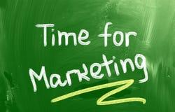 Time For Marketing Concept Stock Photos