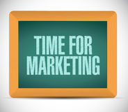 Time for marketing message on board illustration Stock Photo