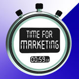 Time For Marketing Message Meaning Advertising And Sales Stock Photos