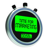 Time For Marketing Message Means Advertising And Sales Royalty Free Stock Photography