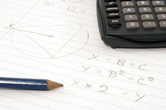 Time for math Stock Photography