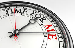 Time for me concept clock closeup Stock Images