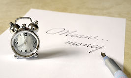 Time means money Stock Photography