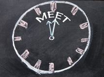 Time for meet clock sign Stock Photo