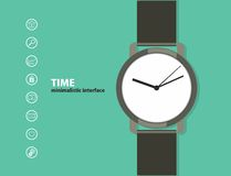 Time. Minimalistic Web and mobile interface Royalty Free Stock Image