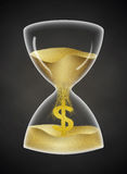 Time is Money. Said clock with money currency sign and more background Royalty Free Stock Photos
