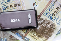 Time is money. It is using a telphone to show a concept,time is money Stock Photography