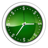 Time is money. Vector-type image, it is presented a clock without numbers but with the dollar symbol Royalty Free Stock Photography
