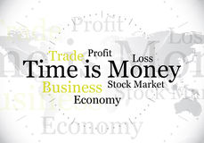 Time is money. Abstract time is money design / background Royalty Free Stock Image