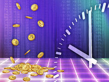 Time is money. Background with the image of accumulating money for a certain time Stock Photo