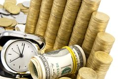 Time is money. Financial income concept Royalty Free Stock Images