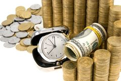 Time is money. Financial income concept Royalty Free Stock Image