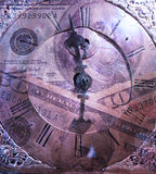 Time is money. Composition with old-time clock Stock Photo