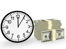 Time and Money. In 3D Stock Photos