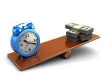 Time and money stock illustration