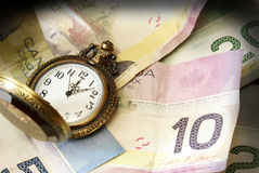 Time is Money. A conceptual image referring to the saying time is money Royalty Free Stock Photos