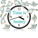 Time is money. Enjoy your life because time is money Royalty Free Stock Photos