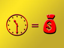 Time is money. Illustrated with simple figuers Stock Image