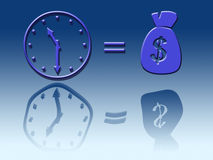Time is money. Illustrated through symbols Royalty Free Stock Photo
