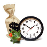 Time is Money. A few items related to the concept that time is money Stock Photos