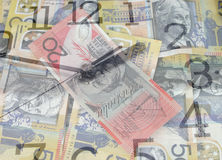 Time is money. Australian currency royalty free stock photos