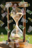 Time is Money. 10, 20, 50, 100, 200 and 500 euro Stock Image