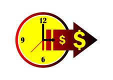 Time is Money. Illustration of time is money royalty free illustration